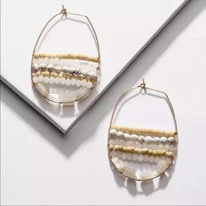 New! Anthro Julien Beaded Hoop Earrings